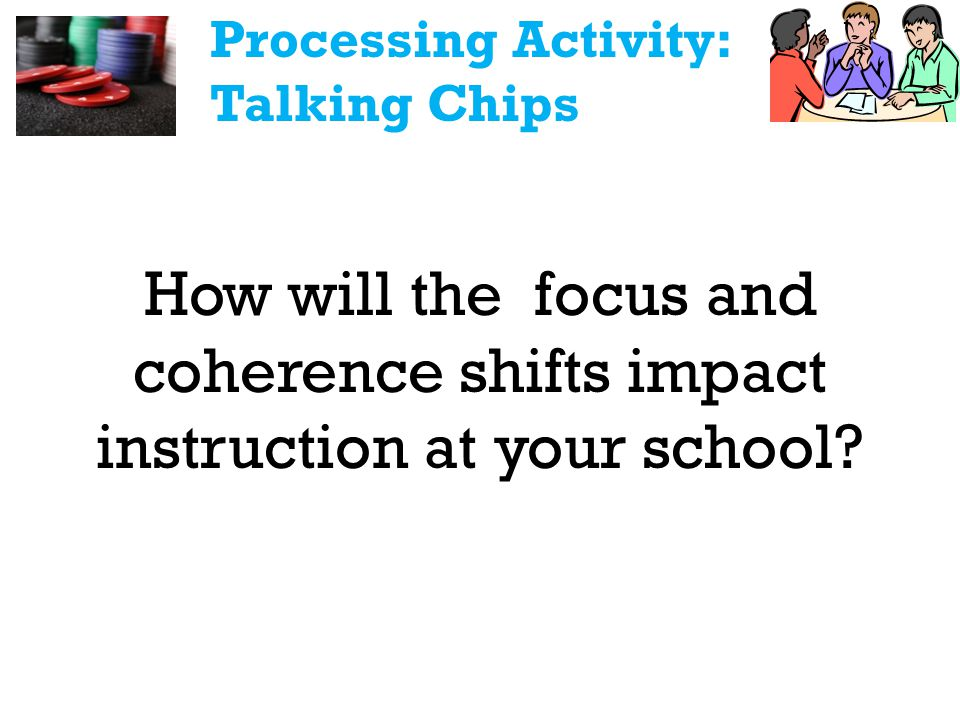 How will the focus and coherence shifts impact instruction at your school.