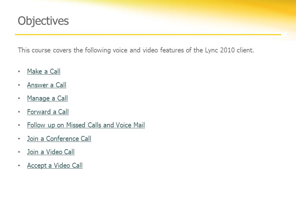 Manage phone messages using Lync 2010.