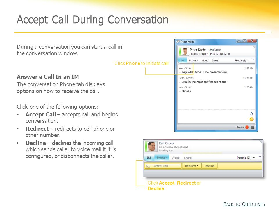 Manage a Call During a call, you can change the audio device, place the call on hold, or transfer the call to another number.