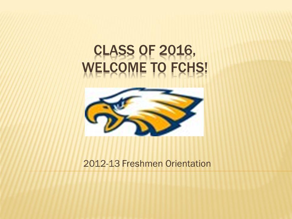 2012-13 Freshmen Orientation