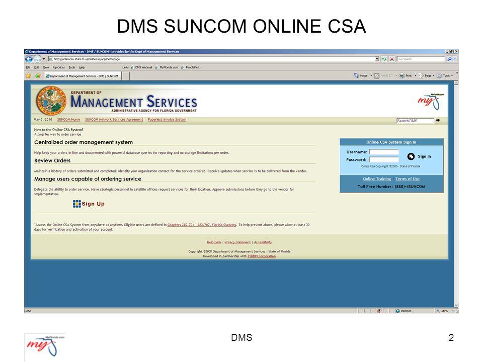 2 DMS SUNCOM ONLINE CSA