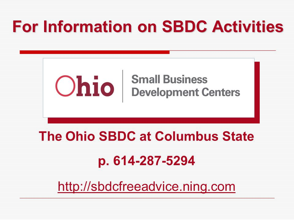 The Ohio SBDC at Columbus State p.