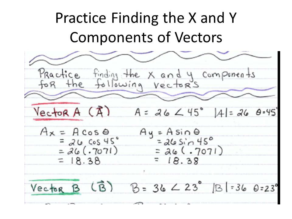 Practice Finding the X and Y Components of Vectors