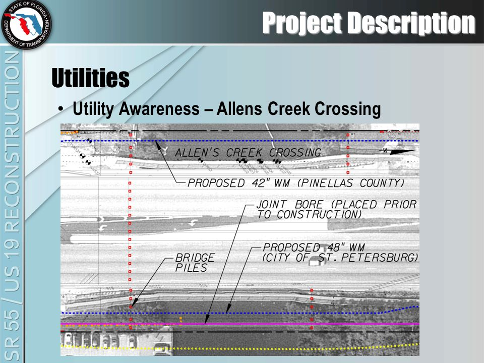 Project Description Utilities Utility Awareness – Allens Creek Crossing