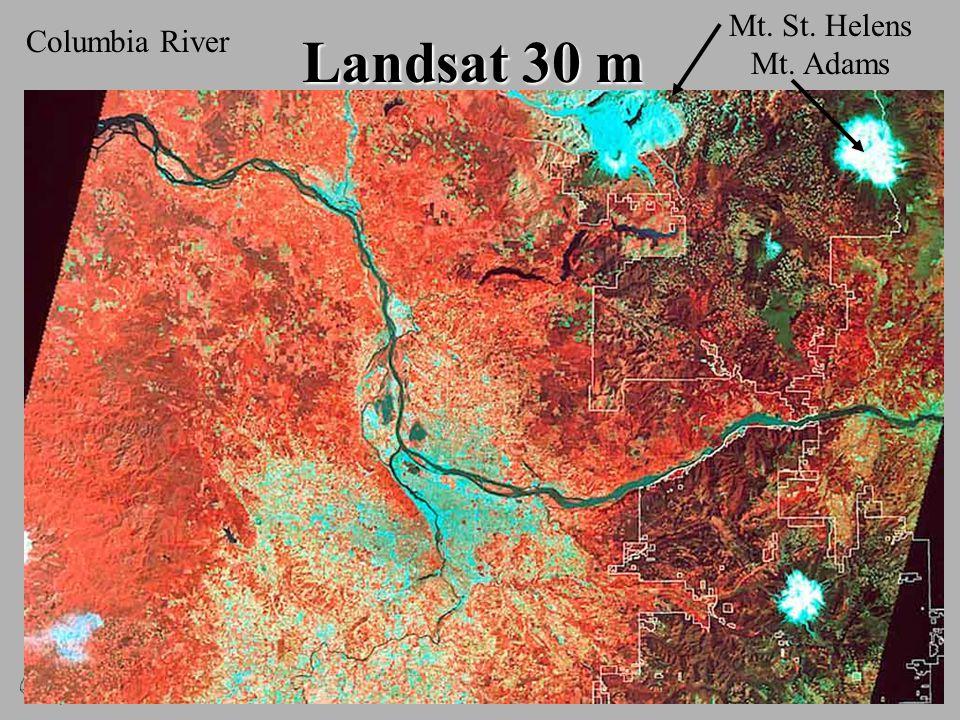 Landsat 30 m Columbia River Mt. St. Helens Mt. Adams