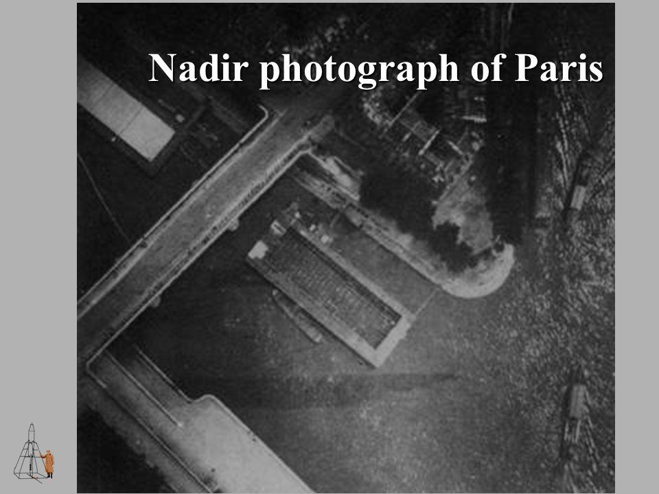 Nadir photograph of Paris