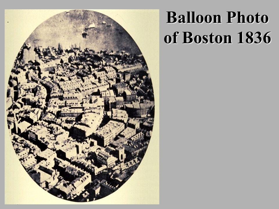 Balloon Photo of Boston 1836