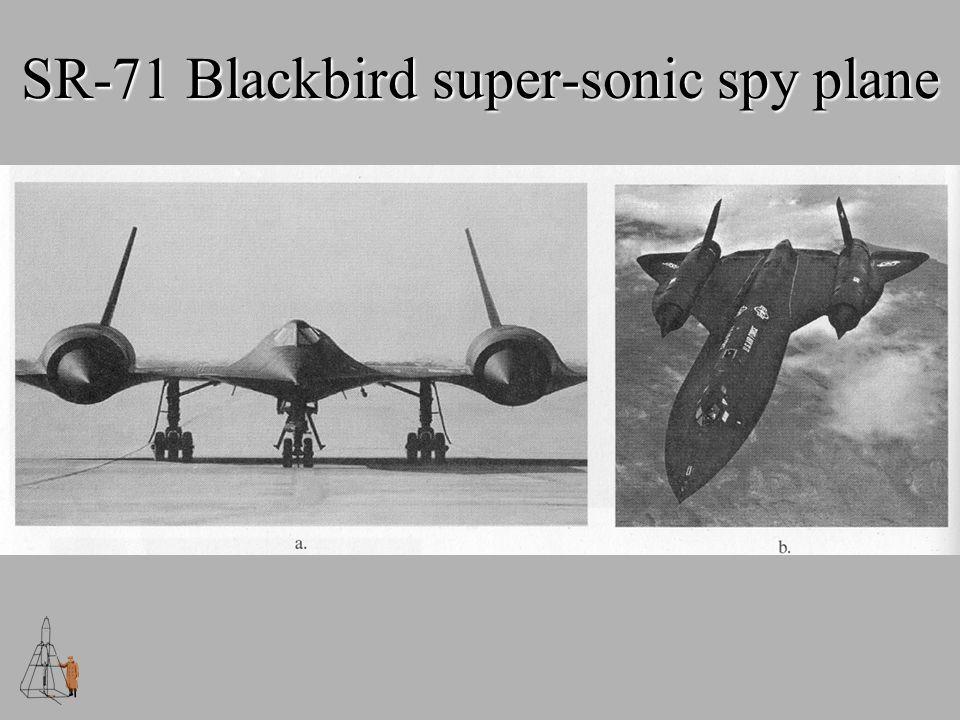SR-71 Blackbird super-sonic spy plane