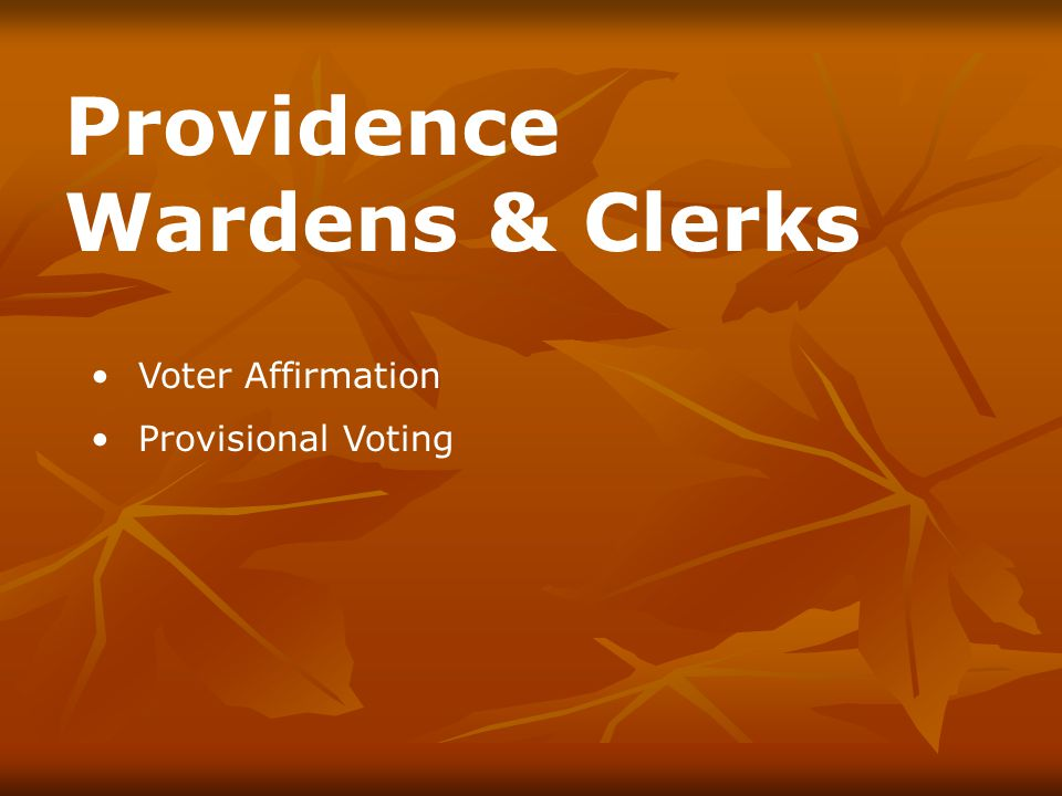 Provisional App Write your precinct number at top.