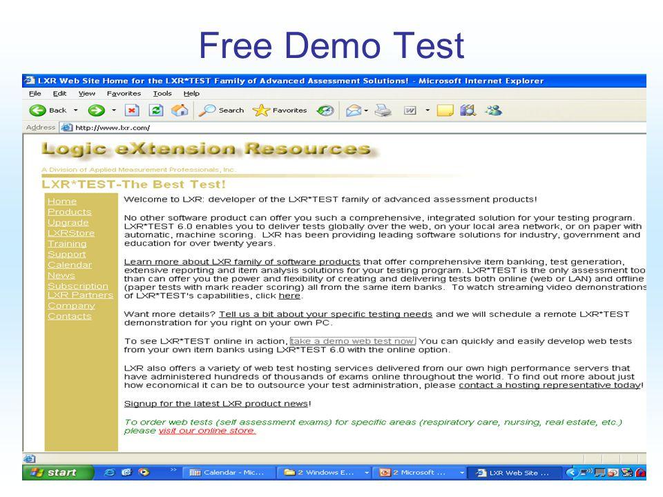 Free Demo Test