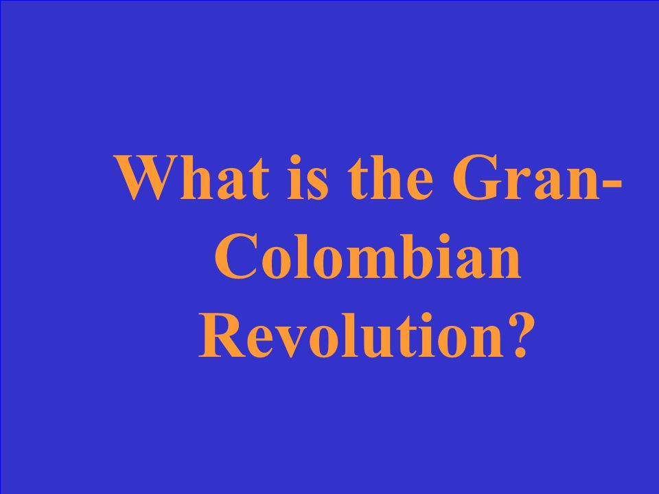 The revolutions in Venezuela, Colombia, Peru, and Bolivia are all described as part of this larger revolution