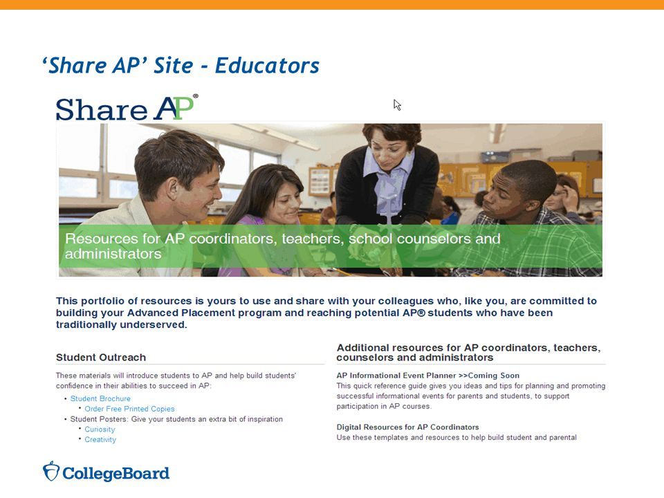 'Share AP' Site - Educators