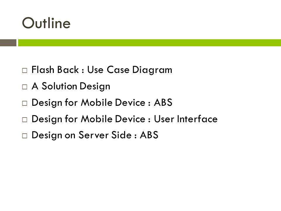 Design on Server Side : ABS  ABS Class Diagram - Server