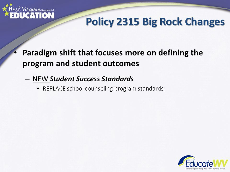 Student Success Standards Student Success Standards ( continued)
