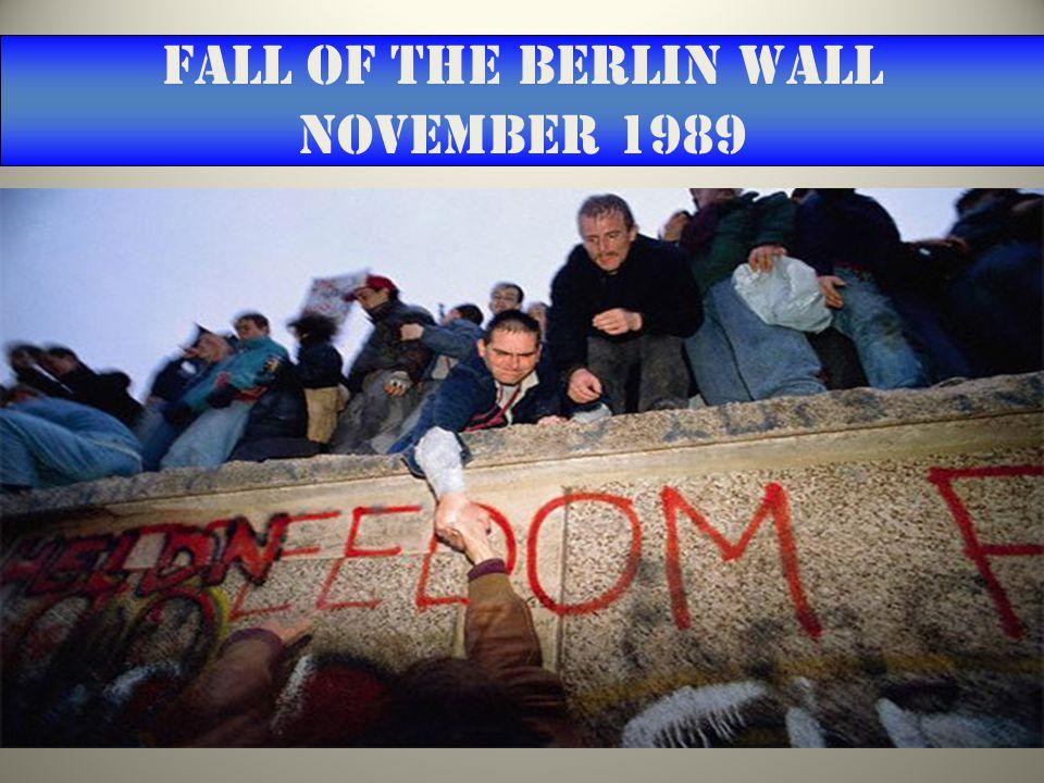 Fall of the Berlin Wall November 1989