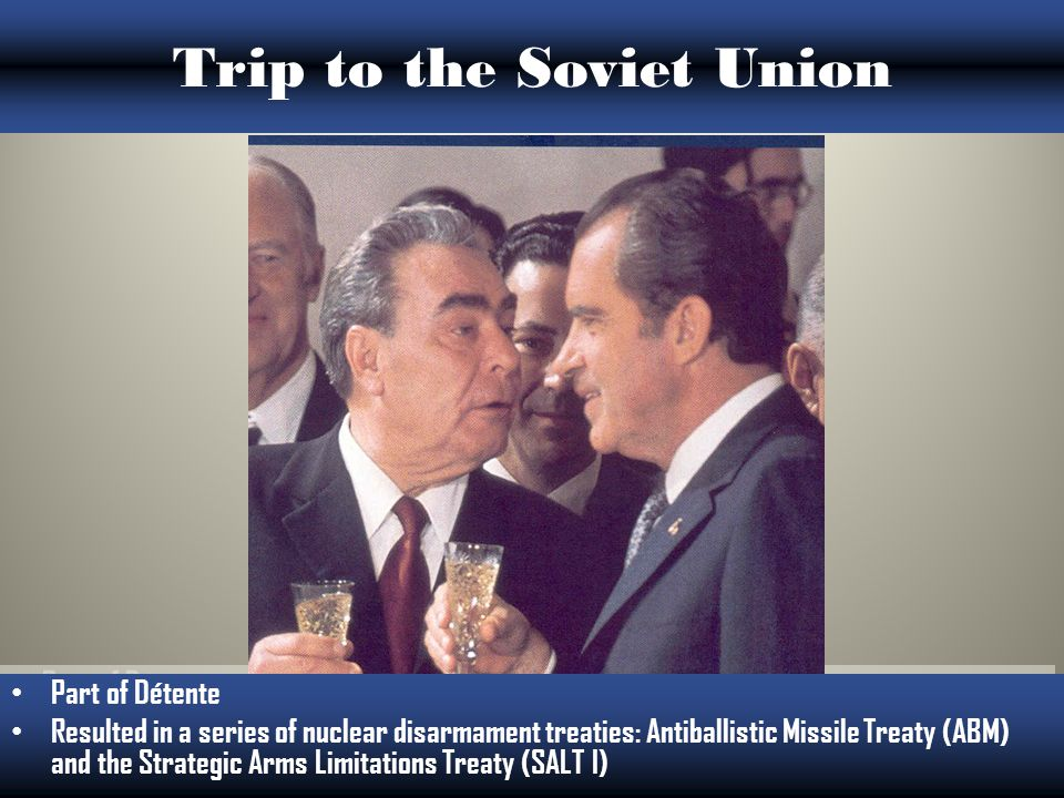 U.S.-Soviet Relations Reagan called the USSR the evil empire. Four major summits between USSR and the US.