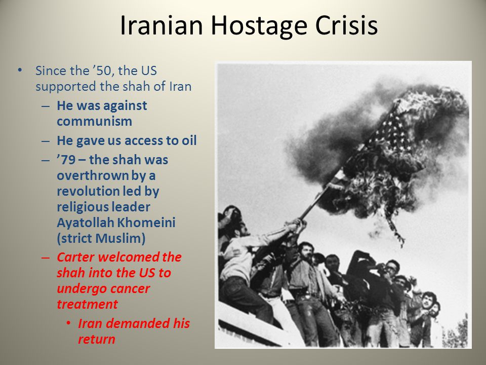 We refused to send the shah back – Iranian student supporters of Khomeini took the US Embassy and 52 hostages – Trade the shah for the people.