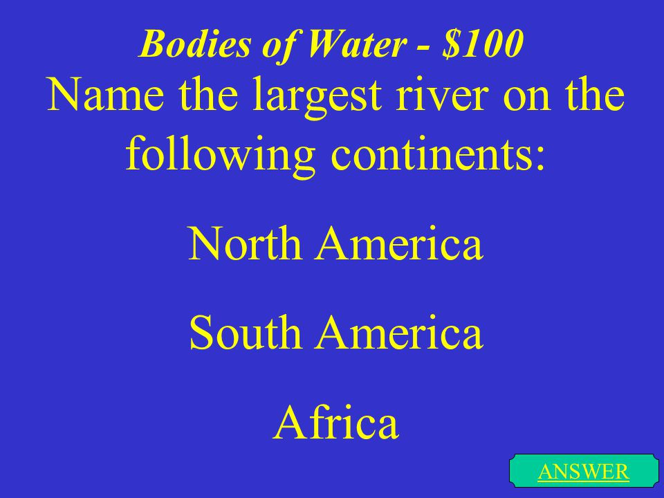 North America - $500 ANSWER Which of the 48 contiguous states is the largest