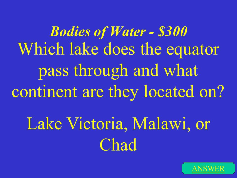 Bodies of Water - $200 ANSWER What city on the Conagree River is the capital of South Carolina
