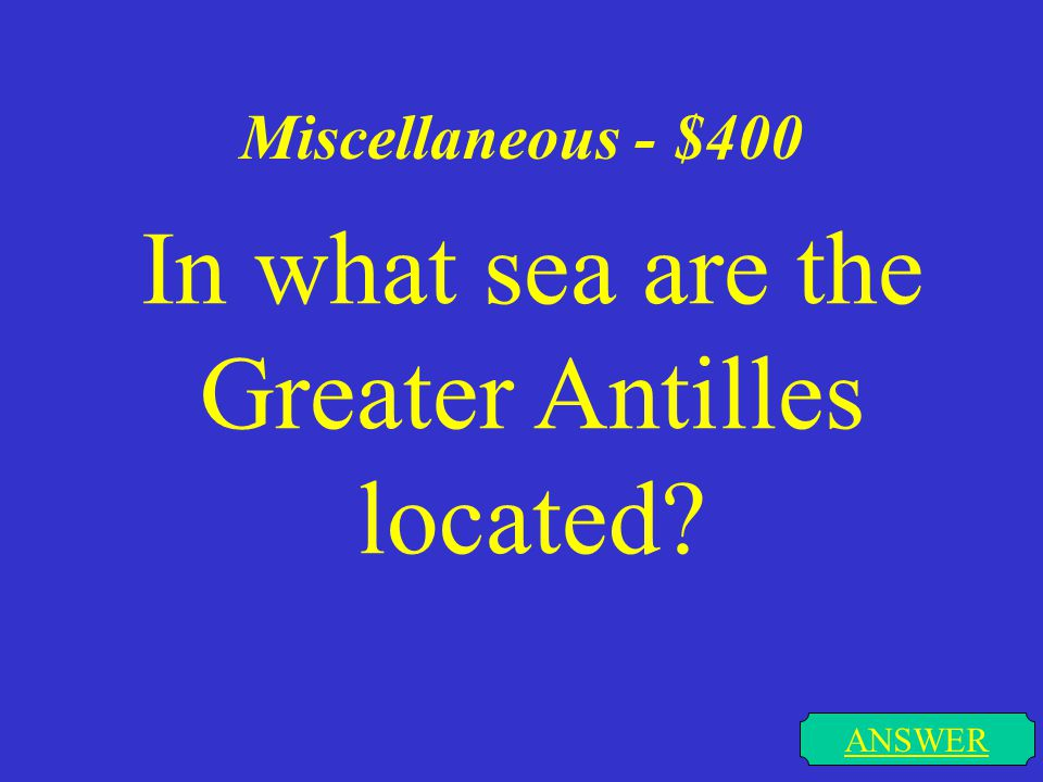 Miscellaneous - $300 ANSWER Which continents does the Tropic of Cancer pass through