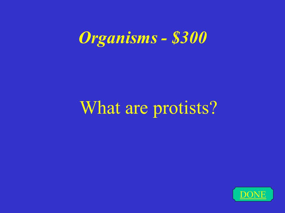 Organisms - $200 DONE What is the cell theory
