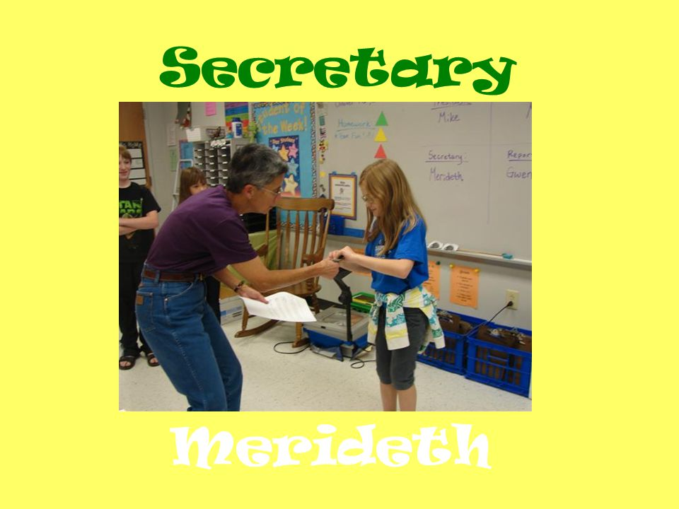 Secretary Merideth