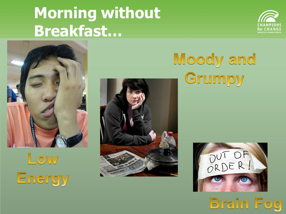 Morning without Breakfast…