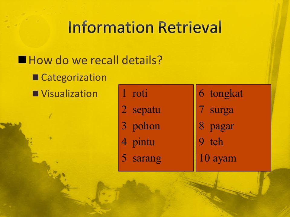 How do we recall details.