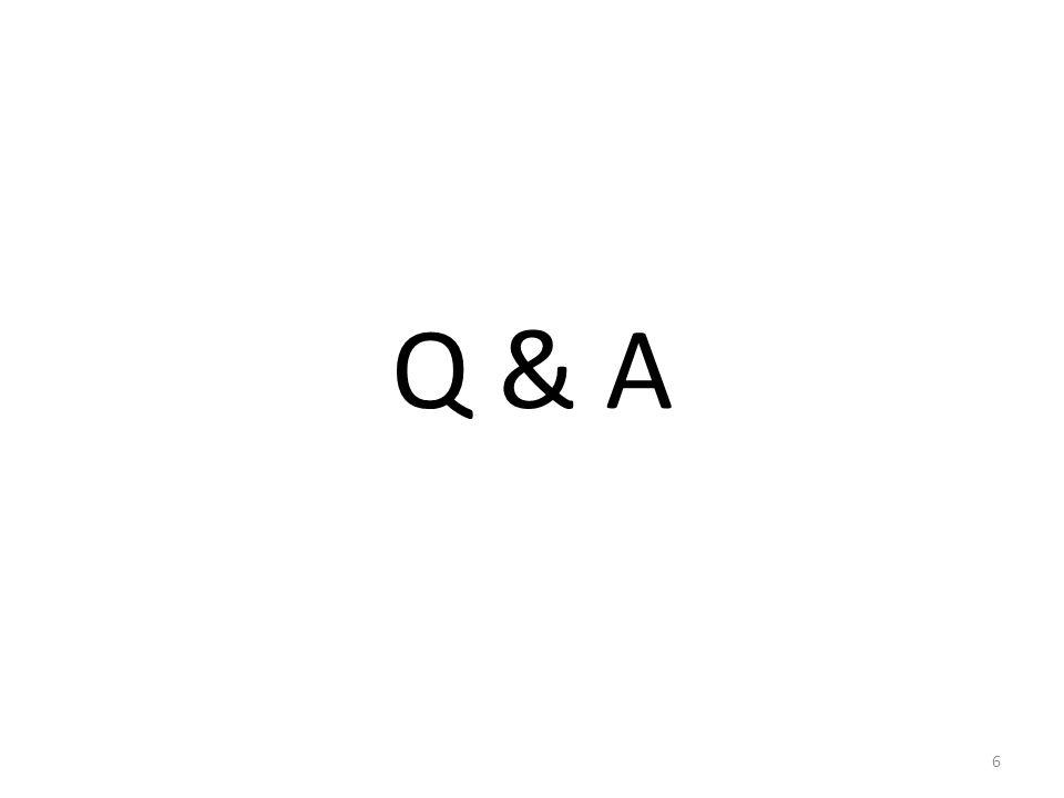 Q & A 6