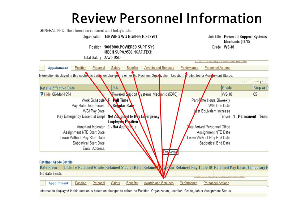 Review Personnel Information