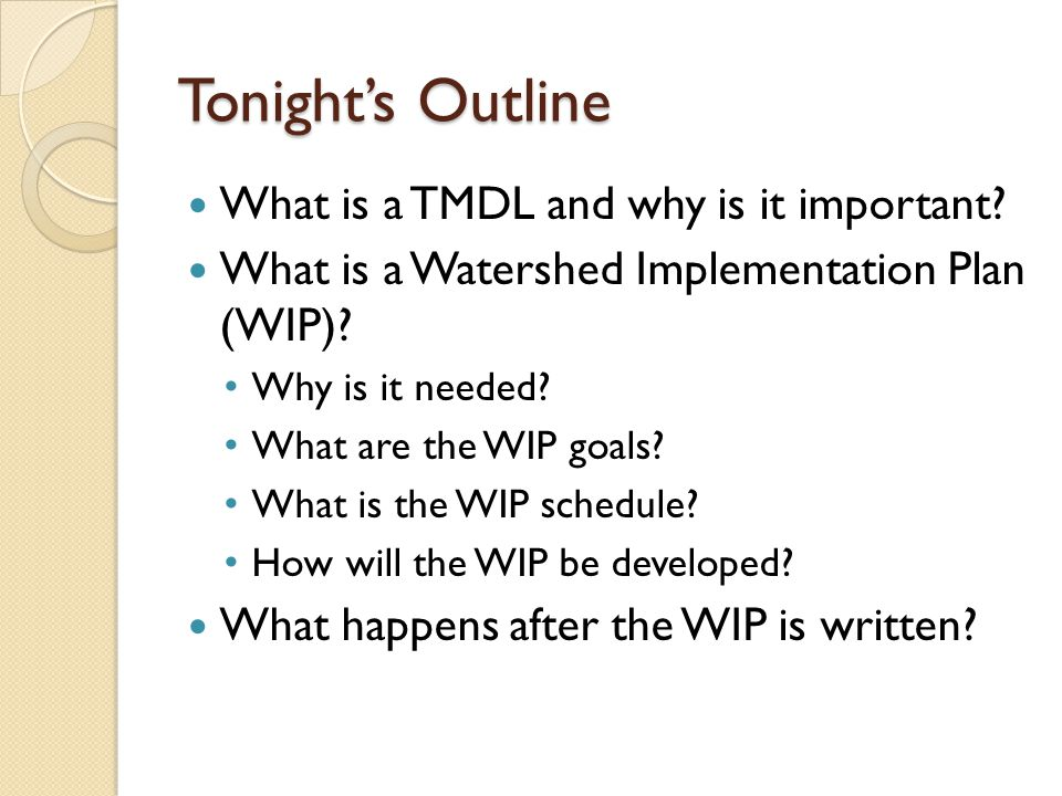 What is a TMDL and why is it important.