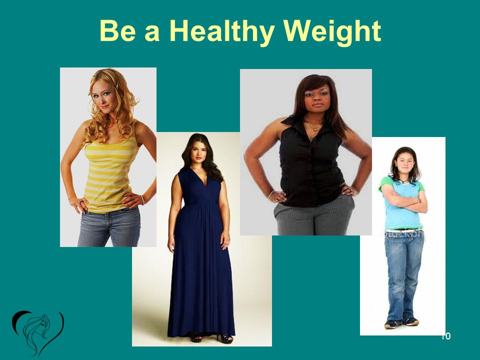 Be a Healthy Weight 10