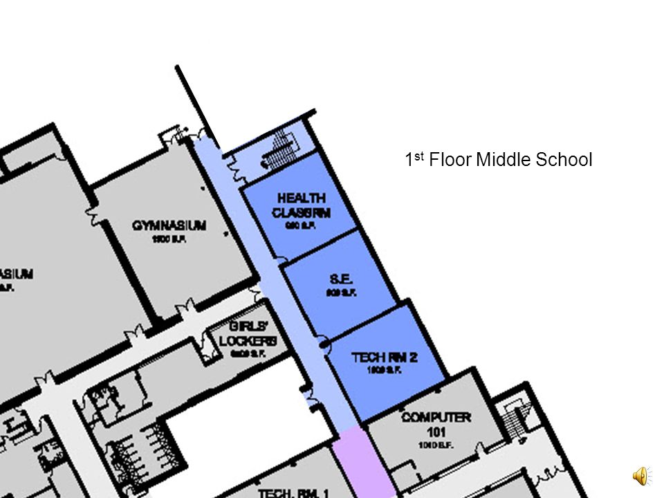 First floor of the Eastchester High School to replace the footprint of the existing cafeteria