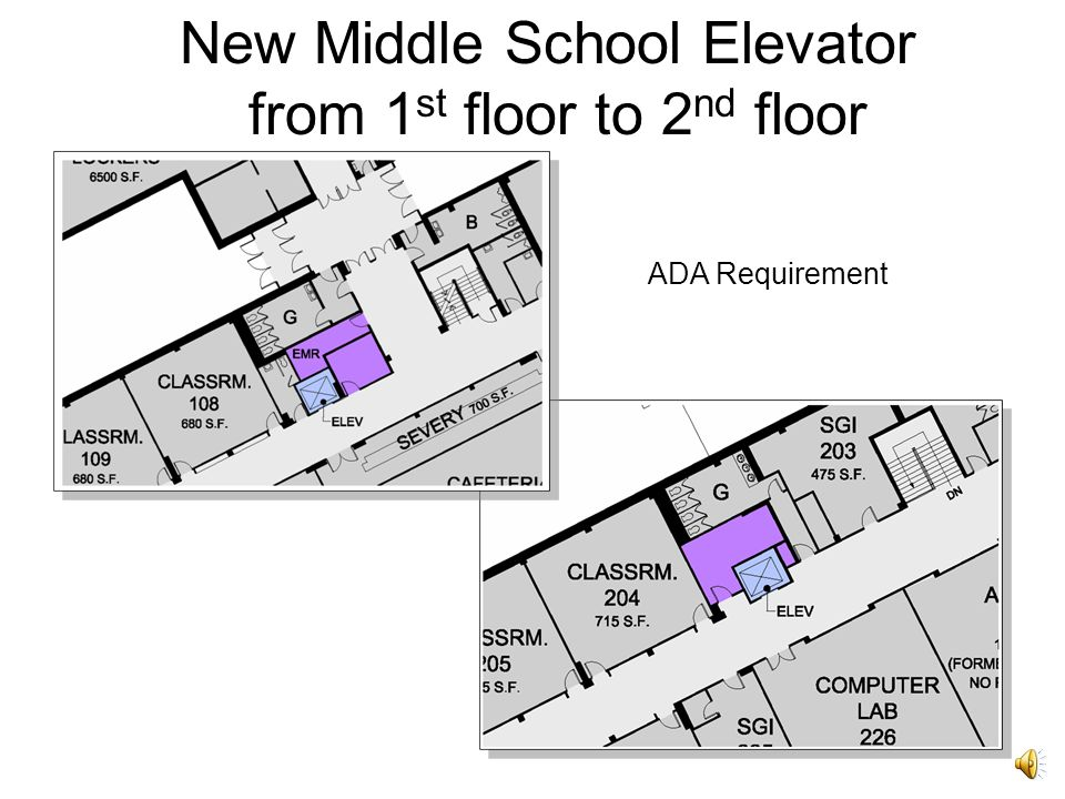 Second Floor Middle School Addition