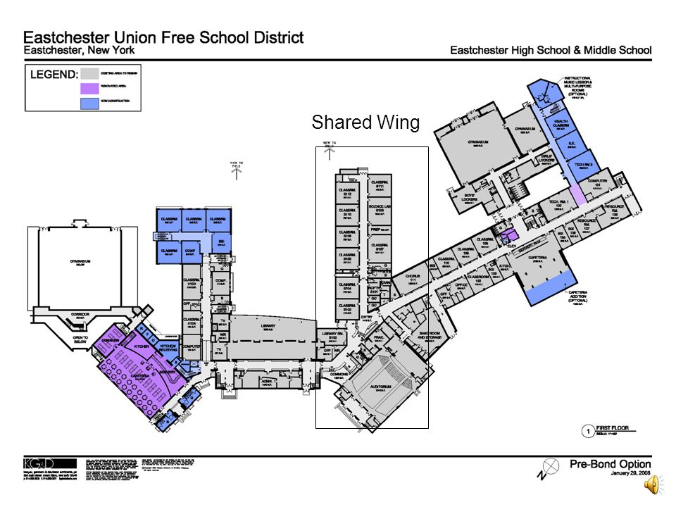 Middle School Cafeteria Expansion provides an additional 1235 square feet