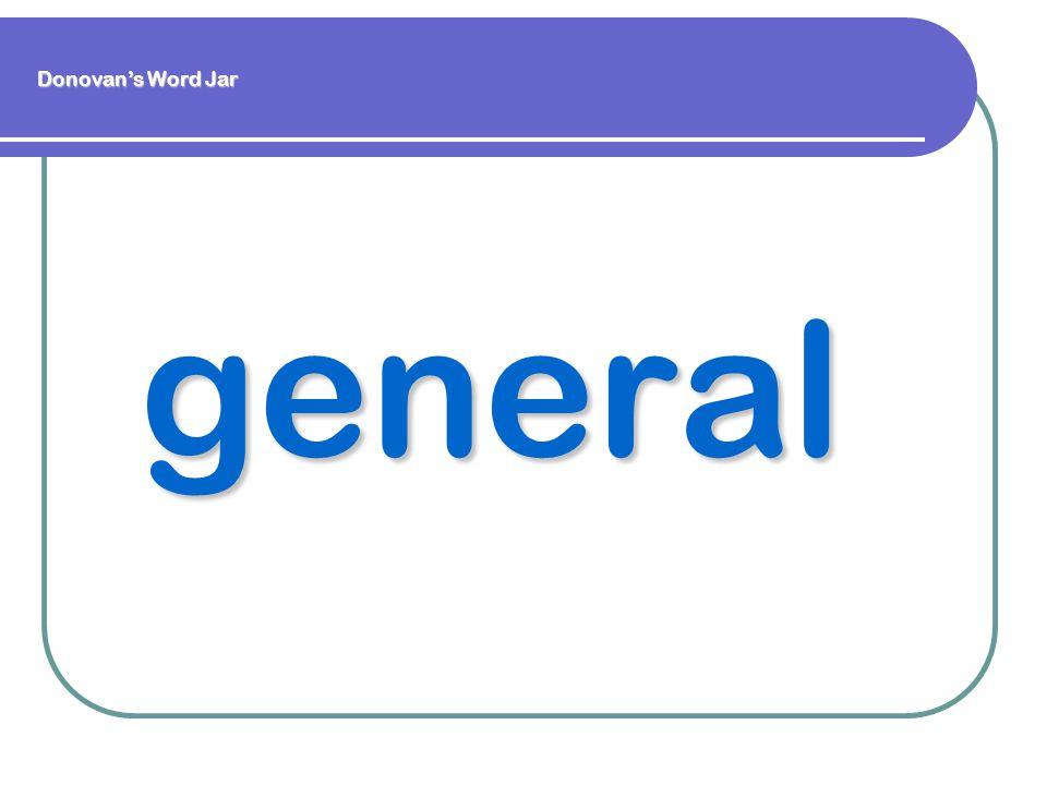 general Donovan's Word Jar