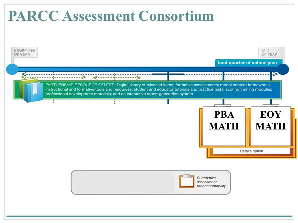 25 PARCC Assessment Consortium PBA MATH EOY MATH