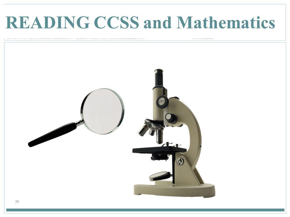 96 READING CCSS and Mathematics