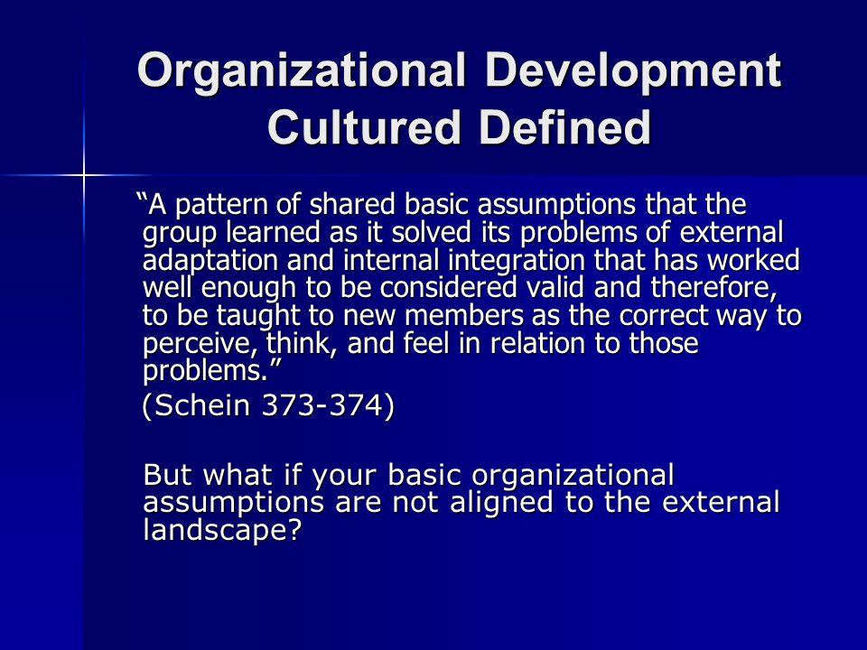 Organizational Systems Defined….