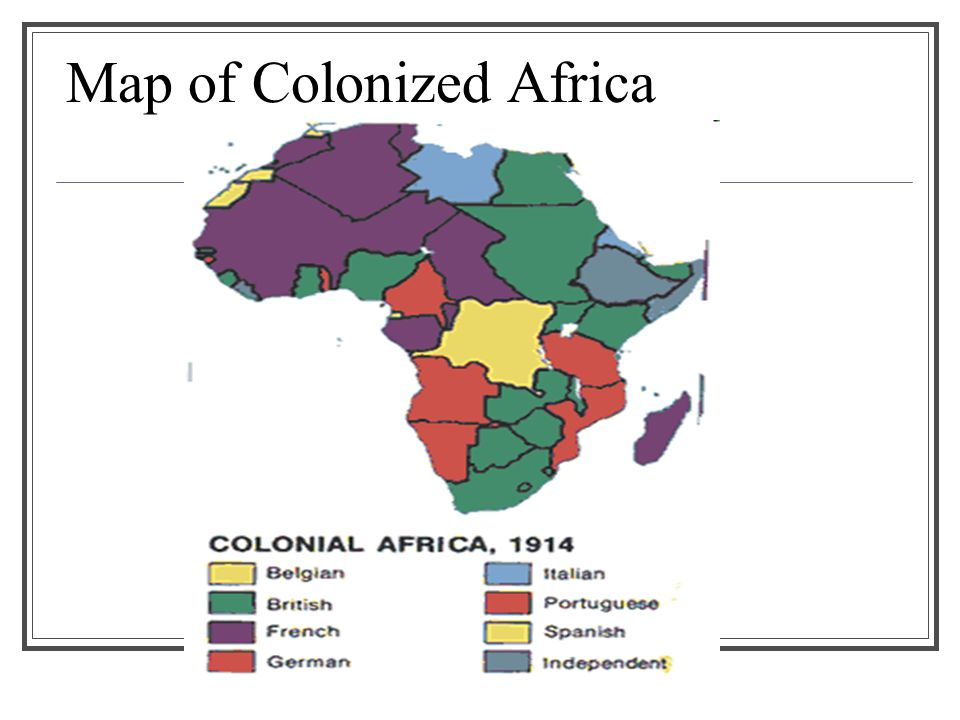 Map of Colonized Africa