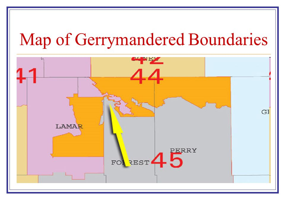 Map of Gerrymandered Boundaries