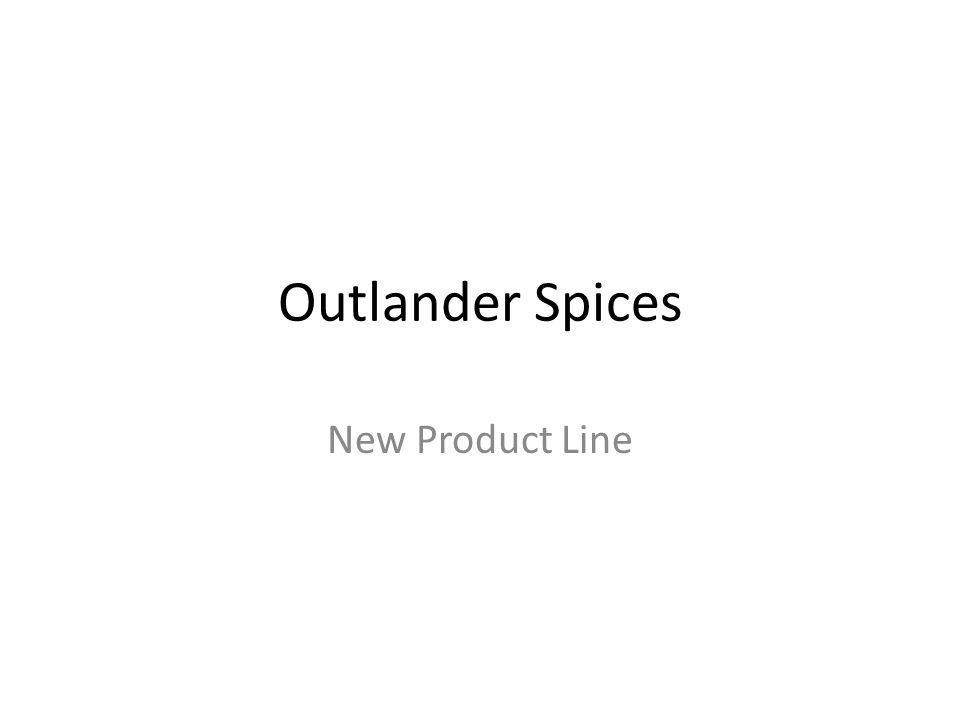 Outlander Spices New Product Line