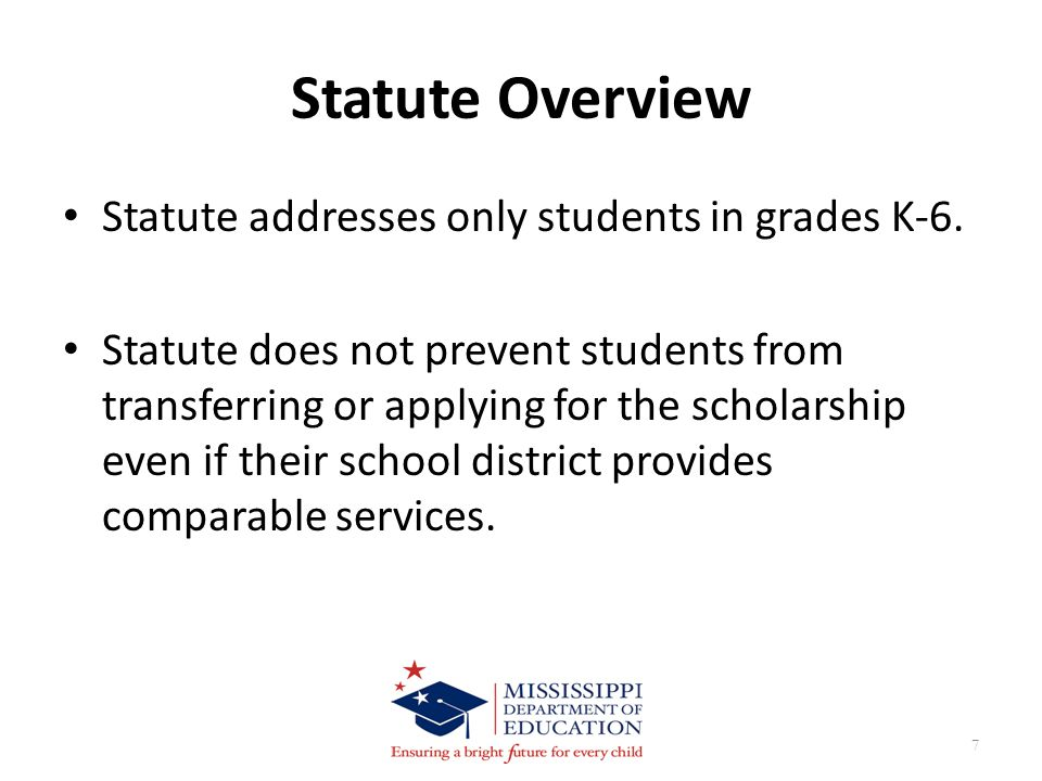 Scenario #5 Can the student qualify for a transfer under the provisions of the statute.