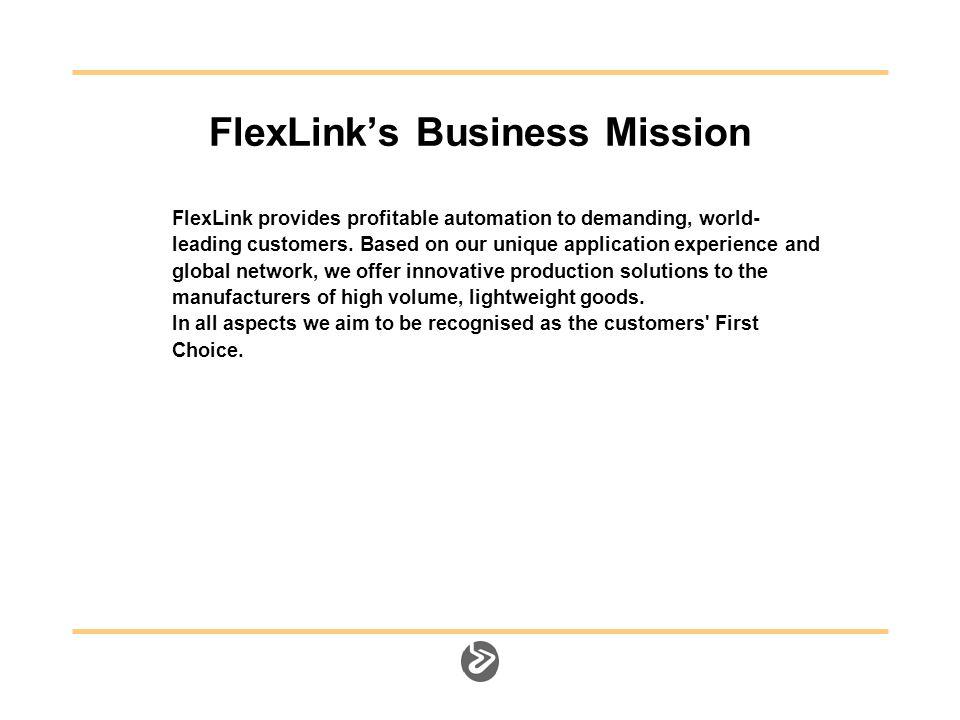 FlexLink Offices FlexLink Representatives World Wide Network
