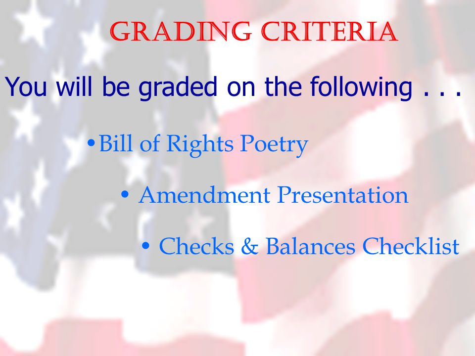 Grading criteria You will be graded on the following...
