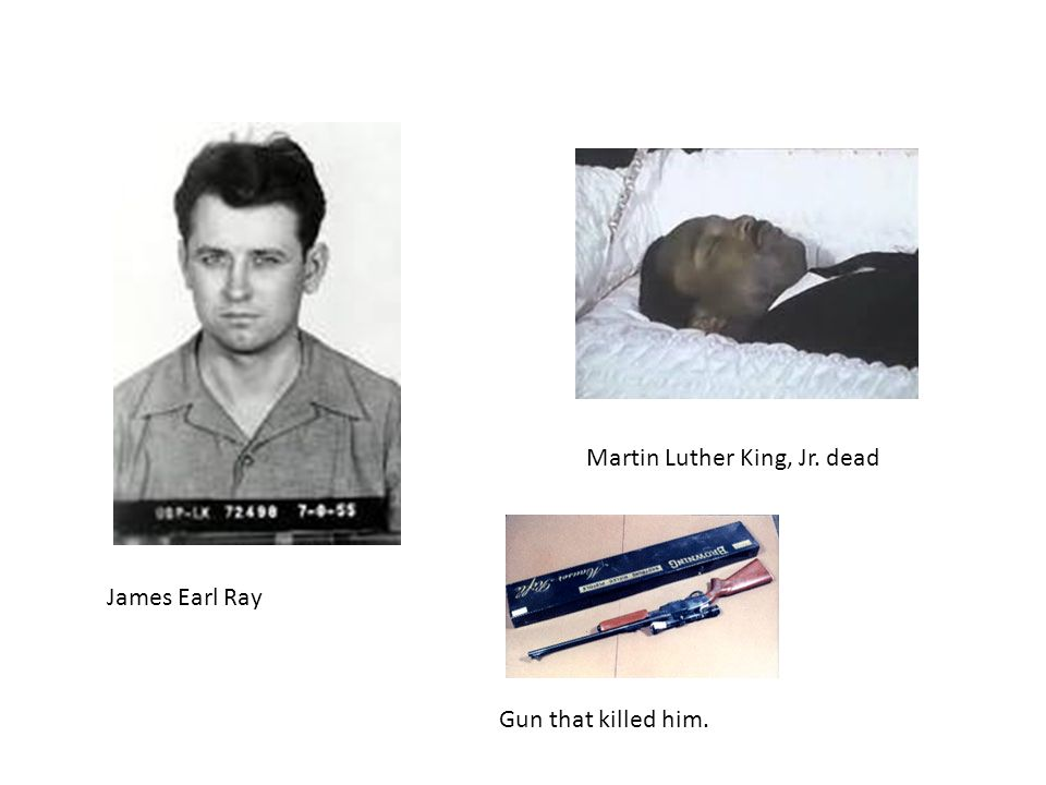 James Earl Ray Martin Luther King, Jr. dead Gun that killed him.