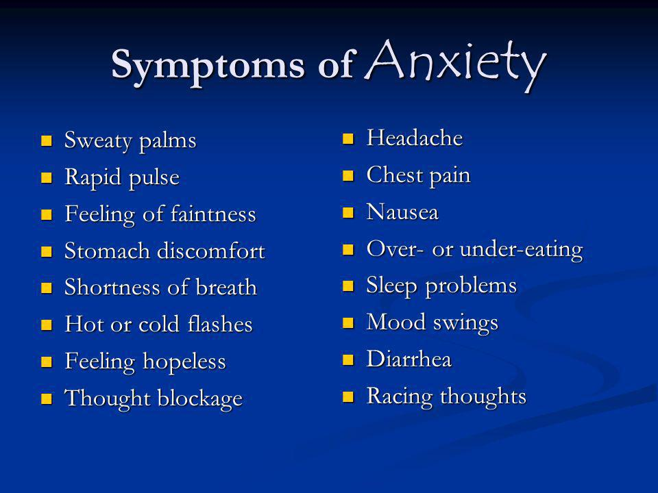 What can we do to help an anxious student?