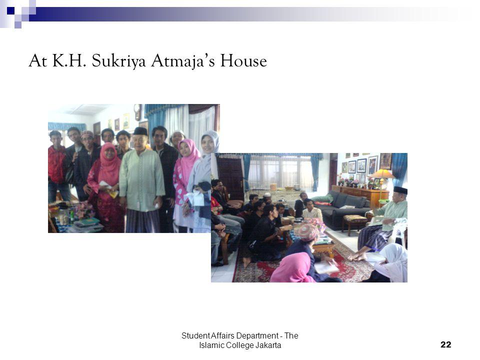 Student Affairs Department - The Islamic College Jakarta22 At K.H. Sukriya Atmaja's House
