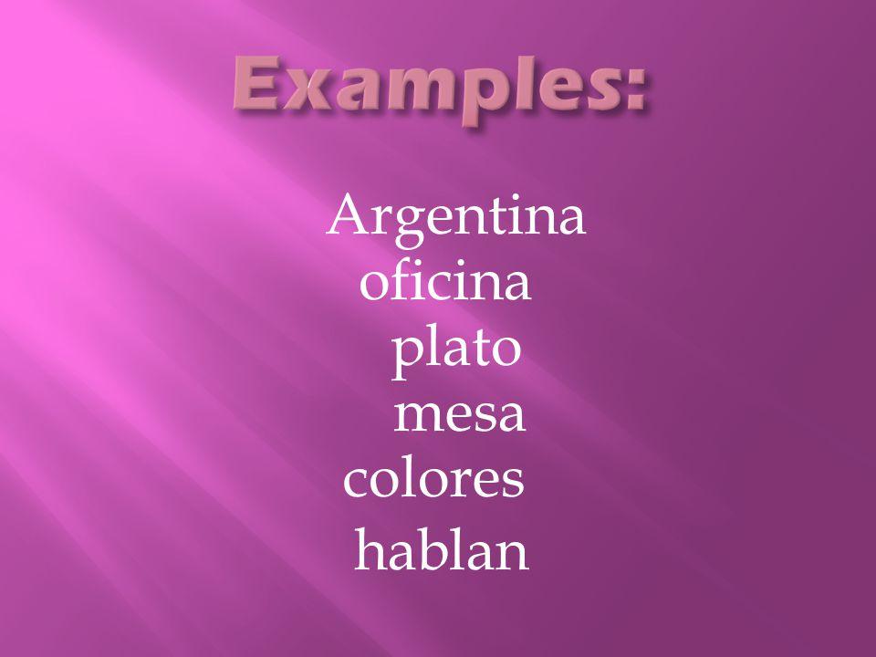 Argentina oficina plato mesa colores hablan