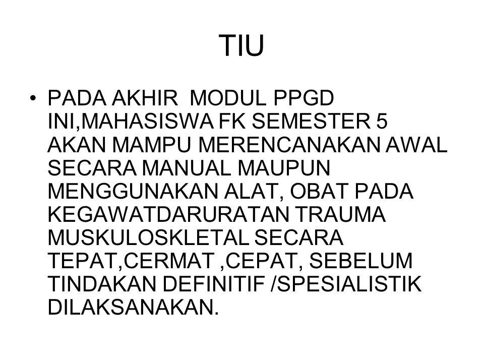 COMPLICATION OF MUSKULOSKLETAL TRAUMA